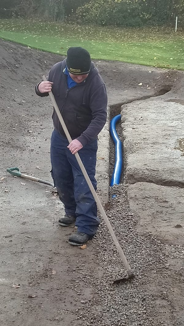Jake installing drains on 16th