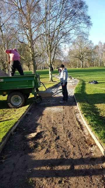Sam and Chas working on the path at the 1st
