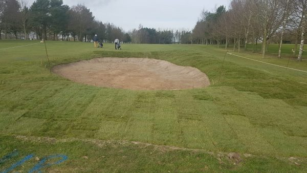 17th fairway bunker turf complete